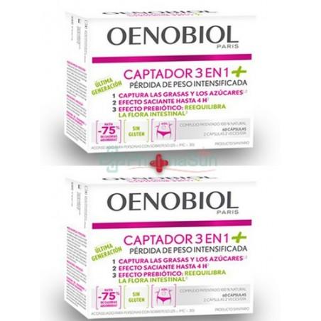 OENOBIOL Captador 3 en 1+ 60 / 60+60 Cápsulas