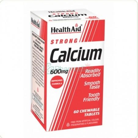 HEALTH AID Calcium Calcio 600 mg 60 tabletas