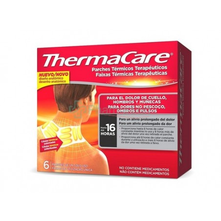 THERMACARE CuelloTHERMACARE zona cuello/hombros/muñecas 6 parches