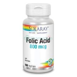 SOLARAY Folic Acid 800mcg...