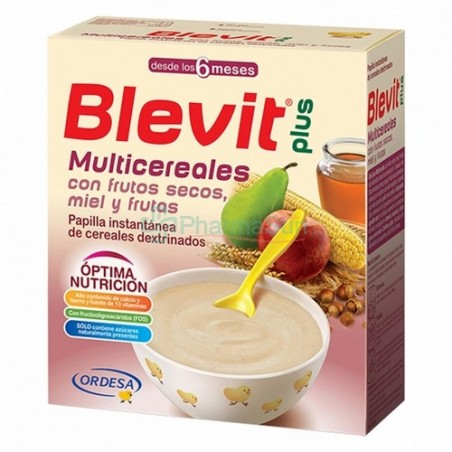 Blevit plus Multigrain with Nuts, Honey and Fruits 6m+ 600g