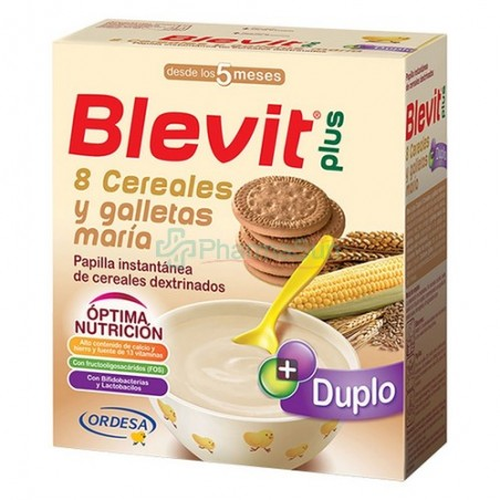 Blevit plus Duplo 8 Cereales con Miel y Galletas María +5m 600g