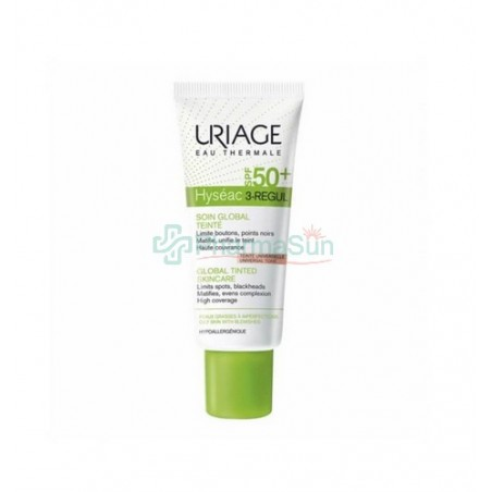 URIAGE Hyseac 3-REGUL依泉全效平衡油脂保湿防晒霜-自然色-控油/去黑头 SPF50+ 40ml
